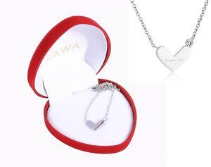 Halskette-mit-Herz-Anhaenger-Silber-Schmuck-Geburtstag-Love-Geschenk-Damen-Frauen