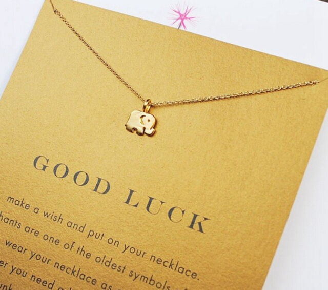 tiny item good letters stamped friends for luck cute simple lucky necklace word necklaces