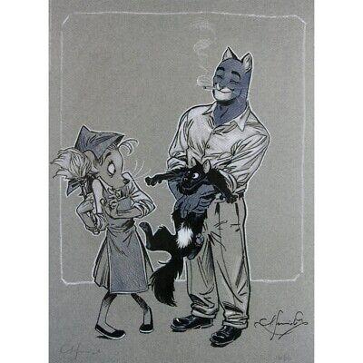 Poster affiche offset Blacksad Juanjo Guarnido Quelque part entre les ombres 1