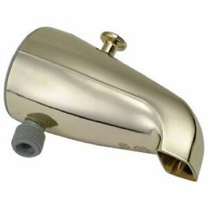 Details About Master Plumber Polished Brass Diverter Tub Spout Handheld  Shower Connection