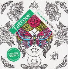 TATOOS CARRES ART THERAPIE anti-stress coloriage tatouage