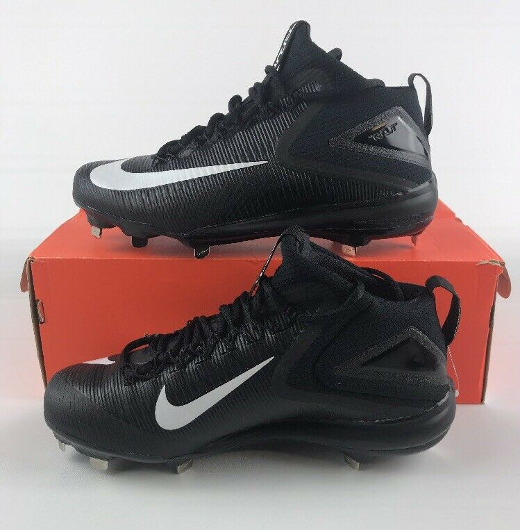 New NIKE Zoom Zoom Zoom Trout 3 Size 9 Black METAL BASEBALL CLEATS 856503–011 83c753