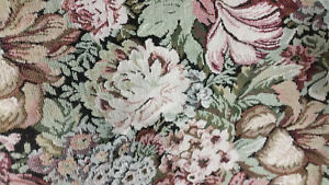 Home-Decor-Heavy-Upholstery-Floral-Brown-Green-Red-Fabric-by-the-Yard