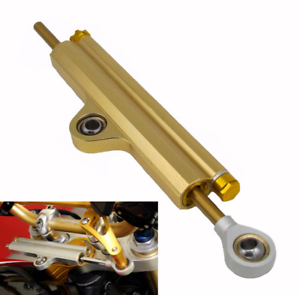 1x Universal Gold CNC Steering Damper Stabilizer for Kawasaki Yamaha Ducati BMW