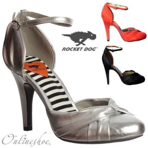 Damen Rocket Dog Olivia Mittelhoch Knöchel-riemen Sandale Schuhe Schwarz