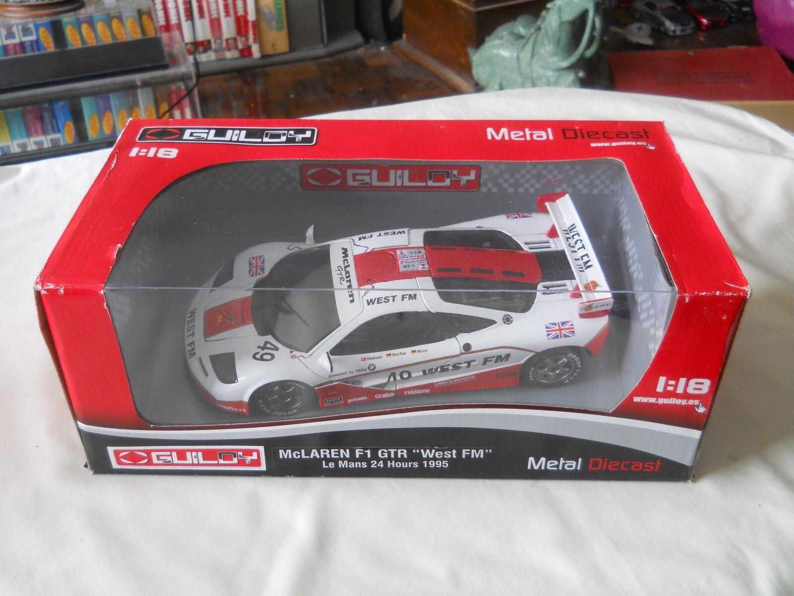 Guiloy McLaren F1 GTR West FM Le Mans 24 Hours 1995 1 18 Diecast