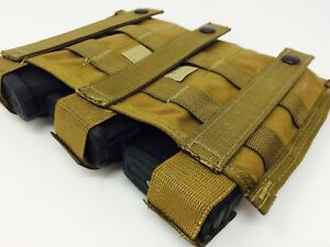 USMC-3-Mag-Coyote-brown-Three-magazine-ammo-pouch-molle-full-battle-FBSE