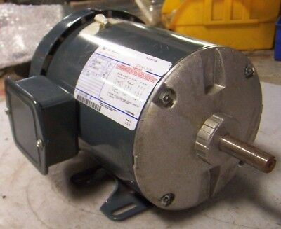 NEW GE 1-1//2 HP ELECTRIC AC MOTOR 208-230//460 VAC 3450 RPM 3 PHASE 56 FRAME