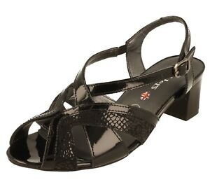 Mørkermønster Svart Patent Størrelse Fit Ee Sandals 5 7 Lav 3 Sko 5 Bred Comfort 6 rrqvAwdx