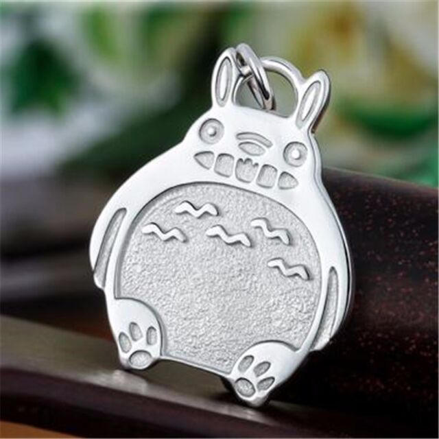 Anime Studio Ghibli My Neighbor Totoro Silver Pendant Necklace Cosplay Gift