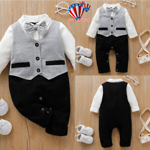 Newborn-Baby-Boys-Formal-Clothes-Outfit-Tuxedo-Christening-Suit-Gentleman-Romper