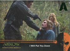 Arrow Season 2 Green Foil Parallel Mirakuru Chase Card U2 I Will Put You Down