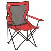 Coleman Broadband Mesh Back Quad Folding Chair With Drink Holder & Sling Bag Sport and Outdoor