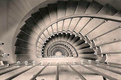 Opéra de Paris Escalier secondaire en plongée Jacques MOATTI Photographe maison
