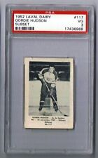 1952-53 Laval Dairy Hockey Card Quebec Aces #117 Gordie Hudson Graded PSA 3