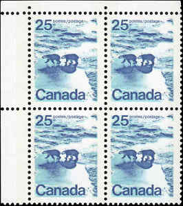 Mint-Canada-25c-1972-VF-TAGGED-NF-Block-of-4-Scott-597-Stamps-Never-Hinged