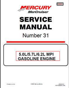 Mercury MerCruiser #31 5.0L / 5.7L / 6.2L MPI Engine Service Repair Manual  | eBayeBay