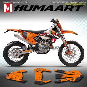 Gray /& Orange Slick Graphics Kit fits KTM 13-15 EXC EXC//F XCW 125 250 300 450