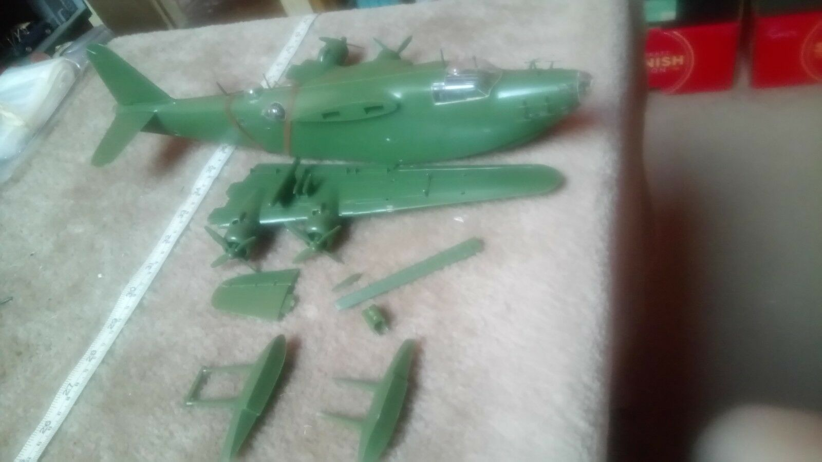 JAPANESE KAWANISHI H8K2 EMILY FLYING BOAT PART BUILT SPARES OR REPAIR 1 72 SCALE