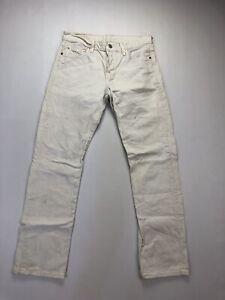 Levi-039-s-501-Jeans-w27-l32-weiss-super-Zustand-Herren