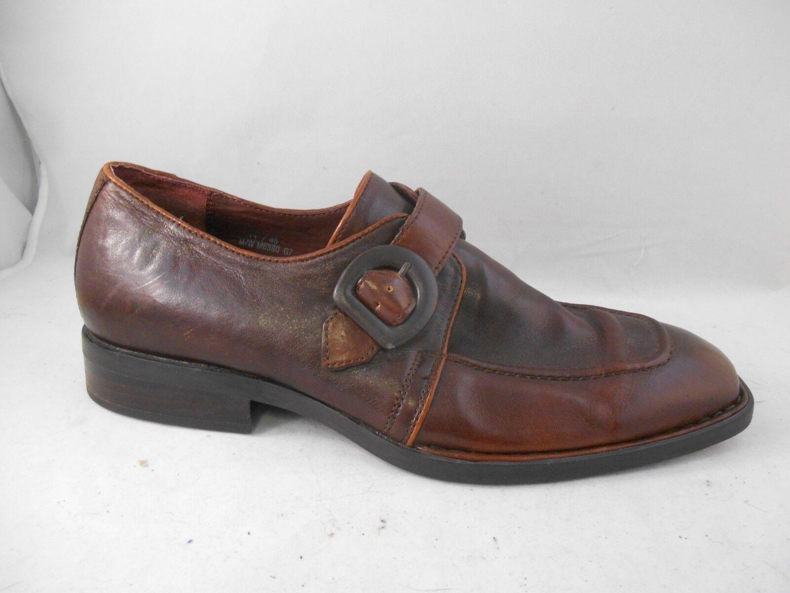 Born Brown Leather Monkstrap Casual shoes Men's Size 11 M   45 Euro
