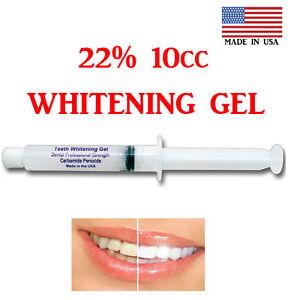 22 Syringe Tooth Whitener Teeth Whitening Gel 10cc 40 Apps
