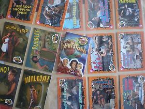 THE-FLINTSTONES-MOVIE-CARDS-TOPPS-1993-STICKERS-FOIL-CARDS