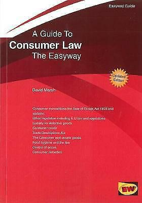 1 of 1 - David Marsh, Guide to Consumer Law : The Easyway - 2016 (Easyway Guides), Very G