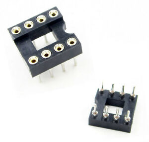 50PCS 18Pin DIP SIP Round IC Adaptor Sockets Solder Type Gold Plated Machined