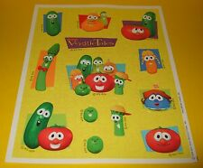 Vtg VEGGiE TALES Hallmark Sticker Sheet~BiG IDEA~Christian Cartoon Bible Stories