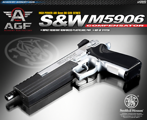 Details about Academy S&W M5906 Compensator 17227 Airsoft Pistol BB Shot  Gun 6mm Toy