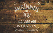 Jack Daniel's No.7 Stencil Furniture Pub Art Painting Airbrush Mylar A4 #JDO