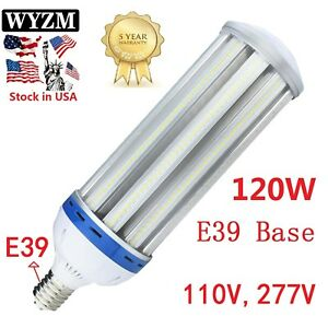 80w 120w led corn cob light bulb e39 base 360 5500k mh hid
