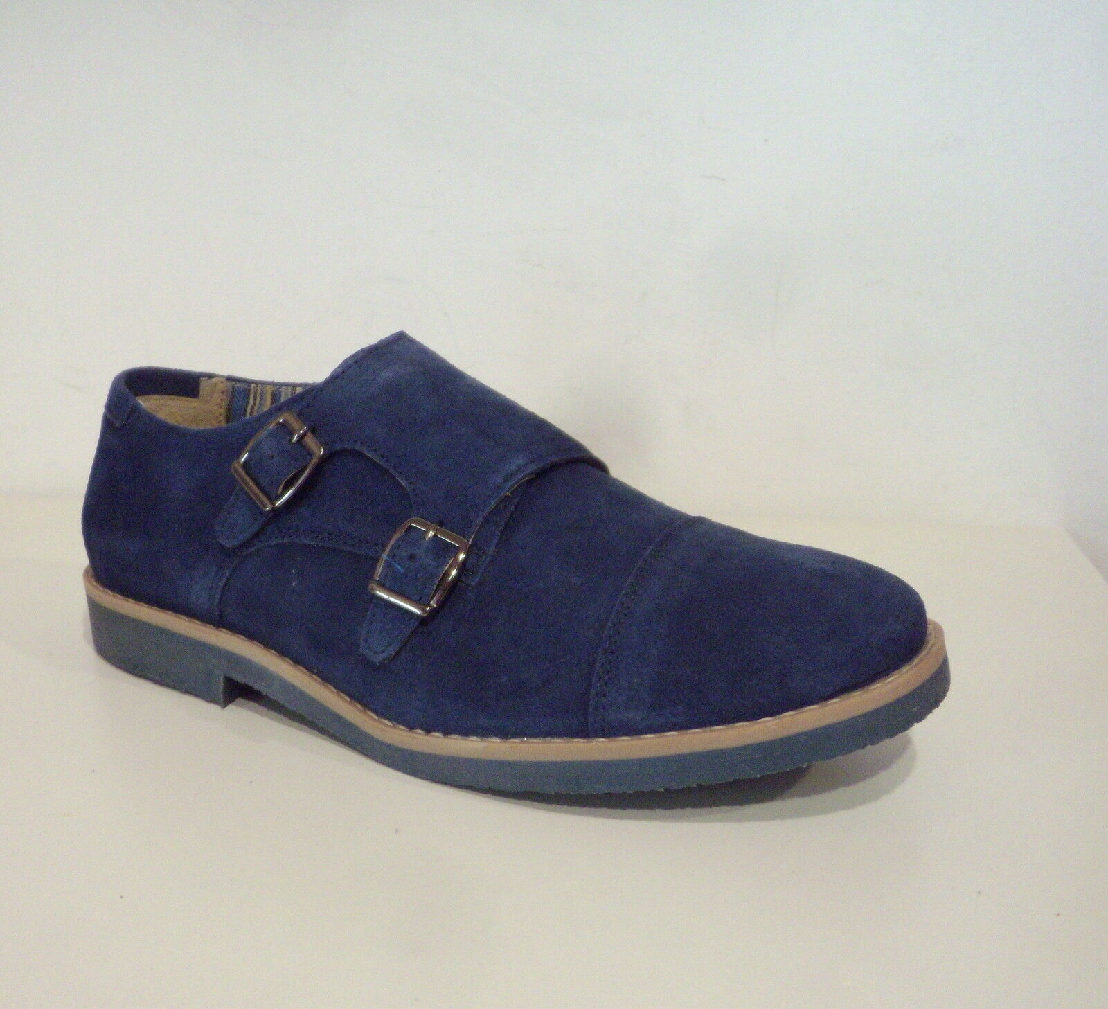 shoes SNOBS men MODELLO DOUBLE color 104 blue MADE IN ITALY
