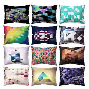 Am-CO-30x50cm-Rectangular-Colorful-Geometric-Throw-Pillow-Case-Bed-Home-Decor