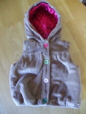Gymboree PUPS AND KISSES Plush Puppy Ears HOODIE Sweater Vest Girls 12 24 Months