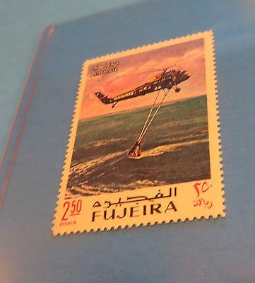 OCEAN RETRIVAL OF CAPSULE SPACE SERIES  U.S.A FUJEIRA STAMP 1969 VOYAGE