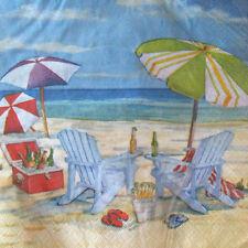 SUMMER Relaxation LUNCH NAPKINS (36) ~ Birthday Party Supplies Serviettes Dinner