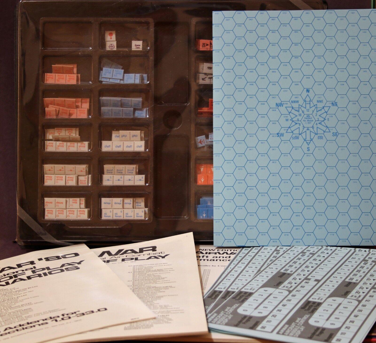 Air War : Modern Tactical Air Combat Board Game 1977 SPI + 1979 Update Kit