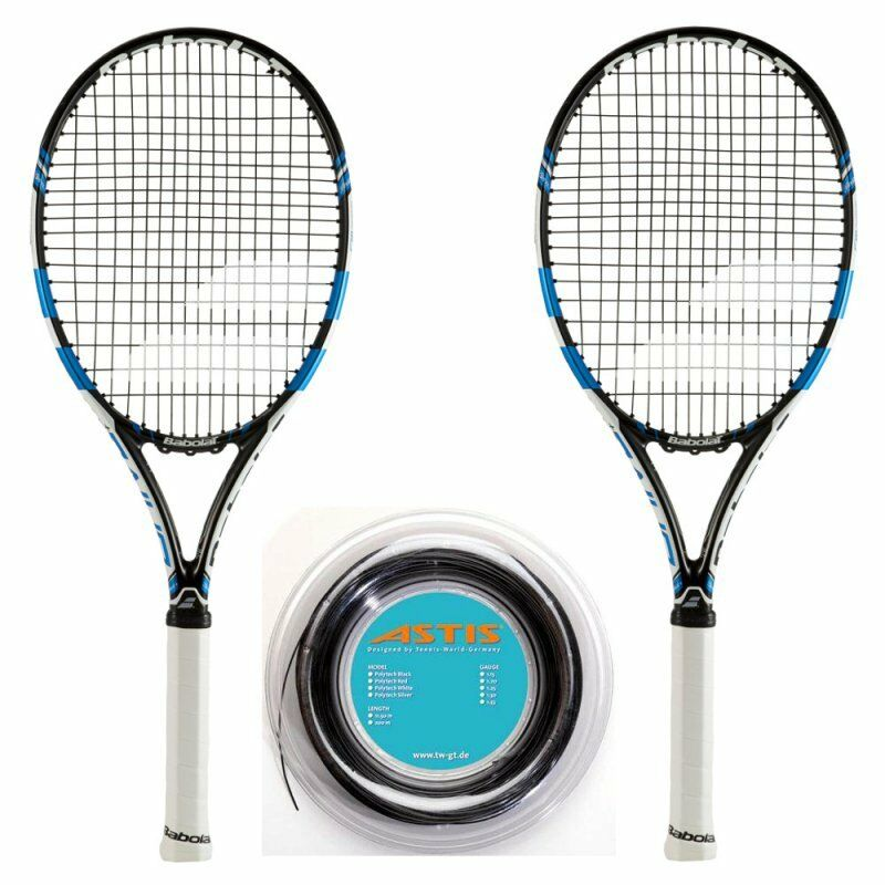 Babolat Pure Drive + 2015 x 2 + + + 200 m-Rolle Griff L3 = 4 3 8 Tennis Racquet Tenn db50f1