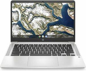 HP Chromebook 14-inch HD Laptop, Intel Celeron N4000, 4 GB RAM, 32 GB eMMC, SLVR