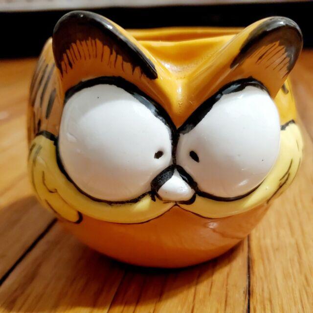 Vintage Rare Garfield Coffee Mug Cat Head Shaped Tea Cup Cat Ebay