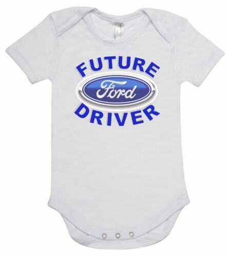 Baby Romper Suit PLUS a Baby Bib printed with FUTURE FORD DRIVER