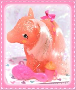 My-Little-Pony-MLP-G1-Vtg-MAIL-ORDER-Sunspot-SPARKLE-Glitter-Sun-Pink-Hair