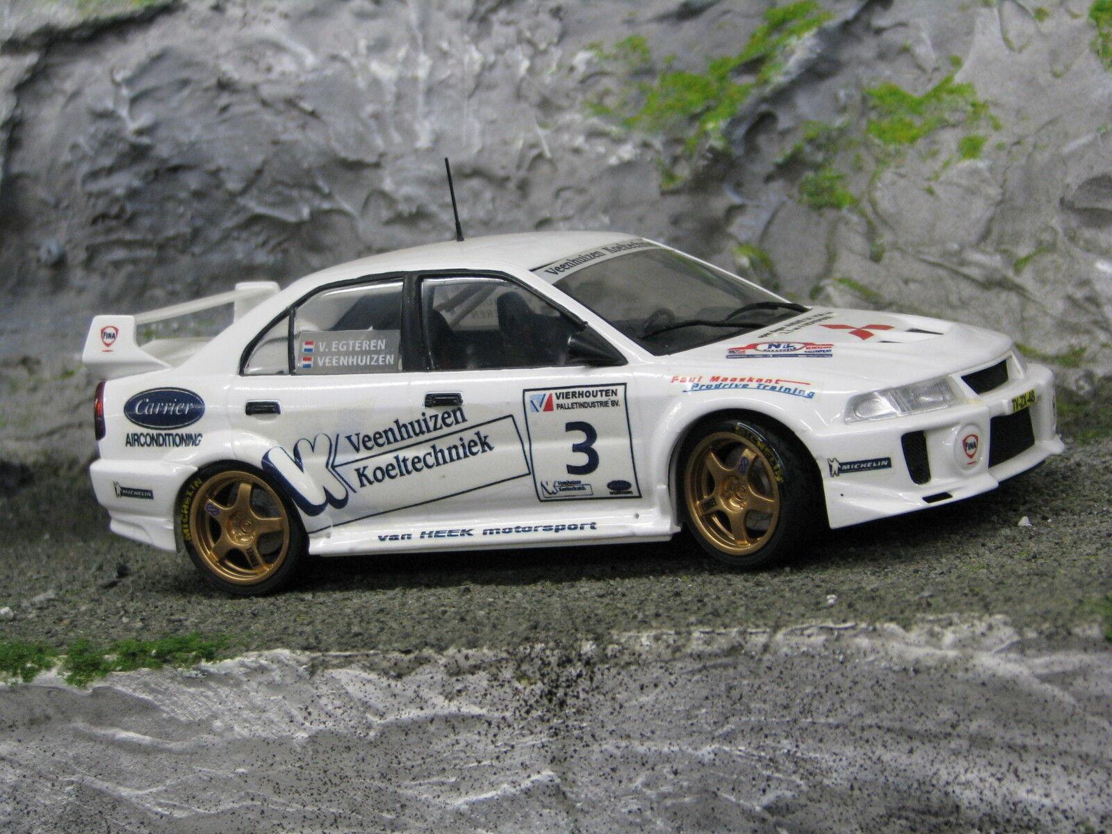 QSP Mitsubishi Lancer Evo V 1:24  3 Veenhuizen / v. Egteren Barneveld Rally 2002