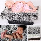 NewPhotography Photo Props Soft FauxWool Basket Stuffer Blanket Rug Newborn Baby