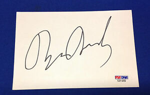 Brian Dennehy signed 4x6 Index Card PSA/DNA # C21232