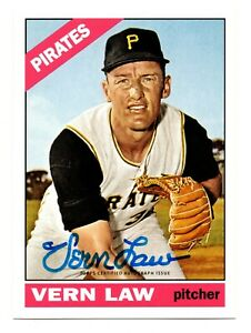 2016 Topps Archives 65th Anniversary Autograph Vern Law Pittsburgh Pirates