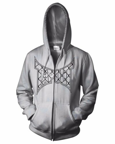 Official TapouT Caged Zip Up Hoodie MMA UFC Mixed Martial Arts Kick Boxing