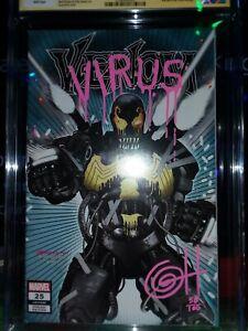 Venom-25-CGC-9-8-Signed-Remarked-amp-Numbered-by-Greg-Horn-1st-Virus